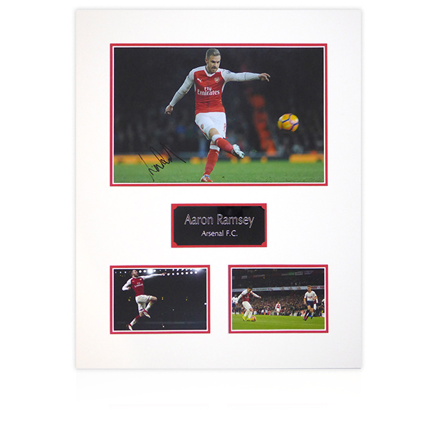 Aaron Ramsey (Arsenal) Signed Mount Display