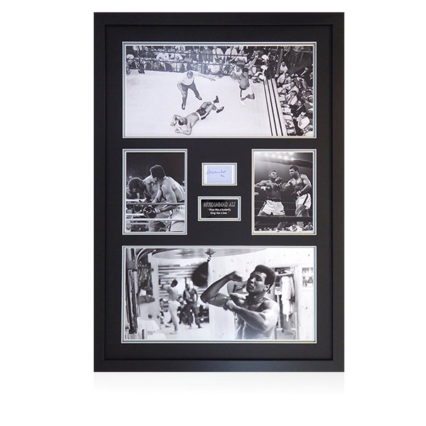 Muhammad Ali Signed Framed Display