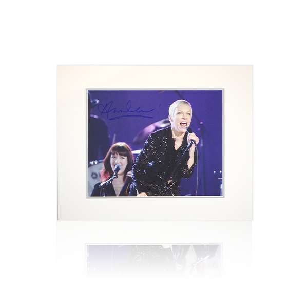 Annie Lennox Signed Mount Display
