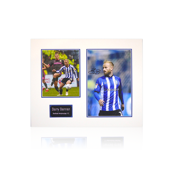 Barry Bannan (Sheffield Wednesday) Signed Mount Display