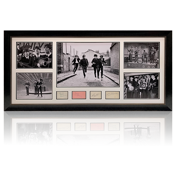 Beatles Signed Landscape Display