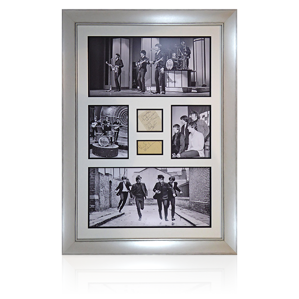 Beatles Signed Portrait Display