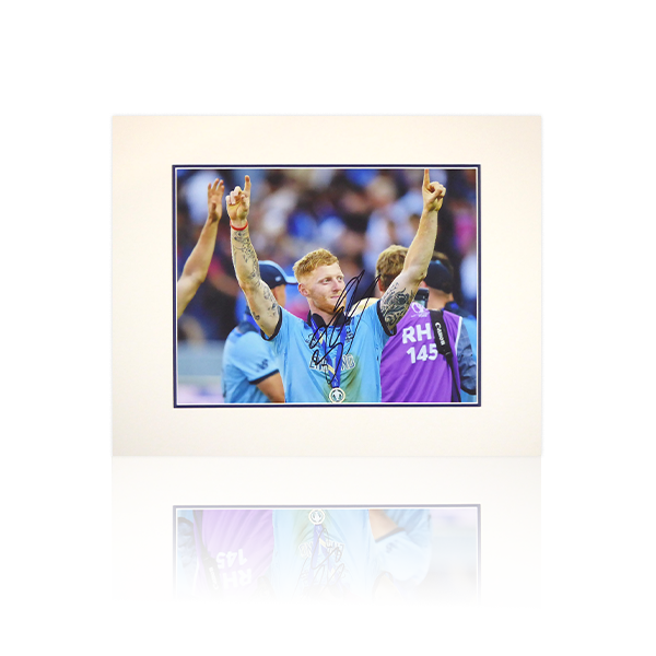 Ben Stokes Signed Mount Display