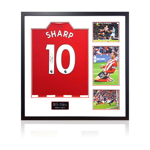Billy Sharp Signed Sheffield United Home Shirt Display