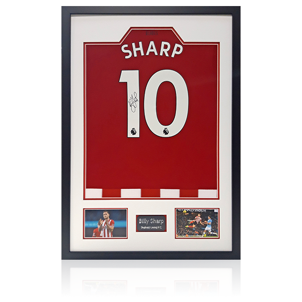 Billy Sharp Sheffield United Home Signed Shirt Display