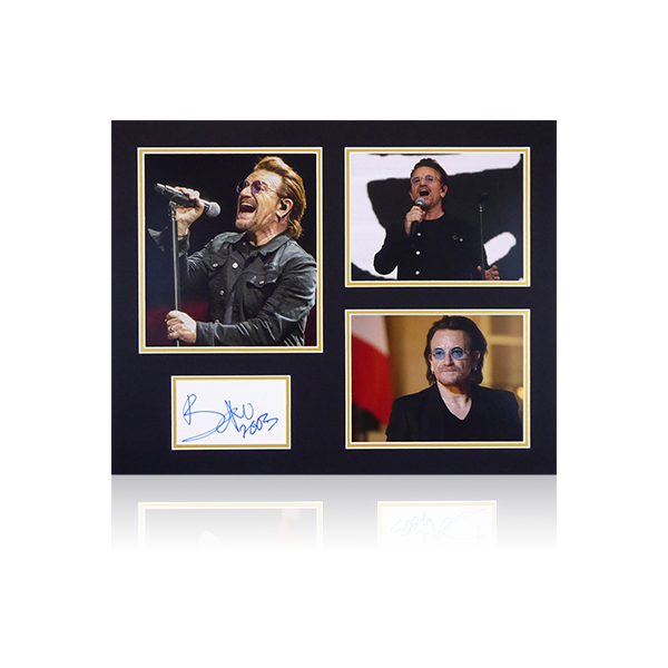 Bono Signed Mount Display