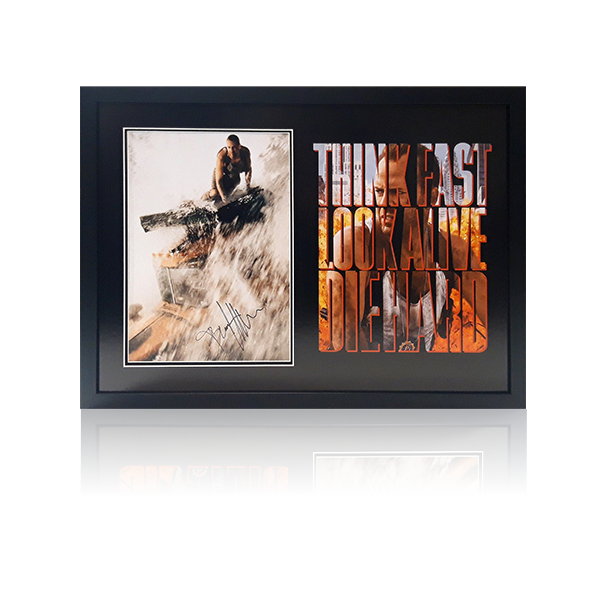 Die Hard - Bruce Willis Signed Framed Display
