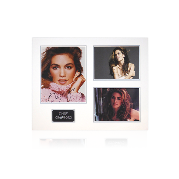 Cindy Crawford Signed Mount Display