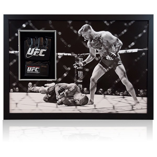 Conor McGregor Signed Mitt Display
