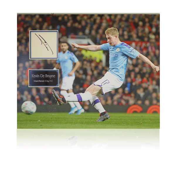 Kevin De Bruyne Man City Signed Poster Mount Display