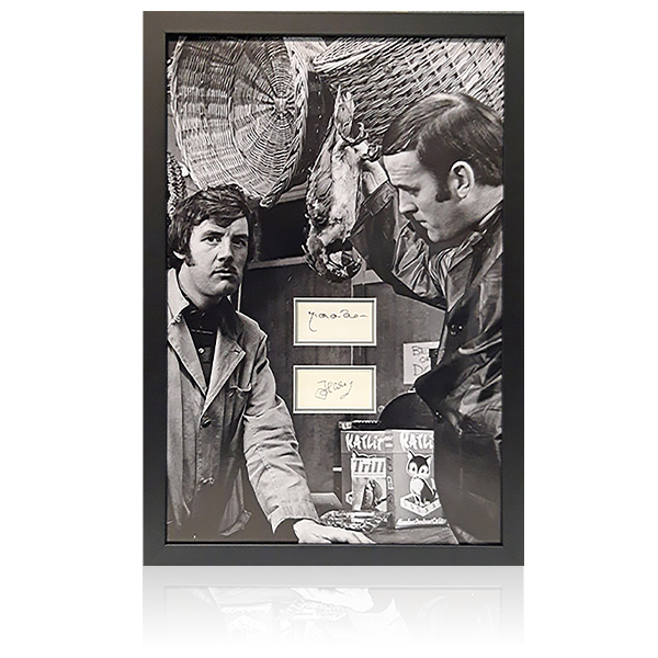 Monty Python - John Cleese / Michael Palin Signed Framed Display