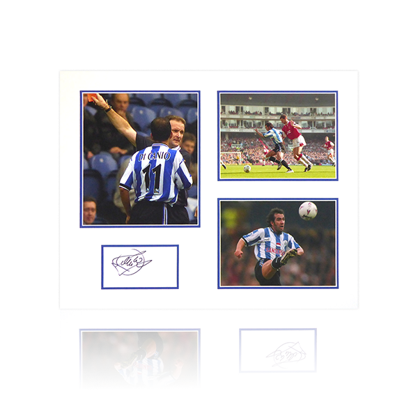 Paulo Di Canio Signed SWFC Mount Display