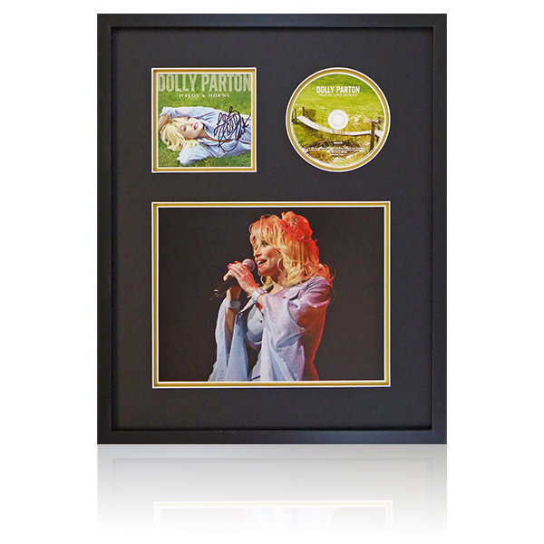 Dolly Parton Halos And Horns Signed Framed Display