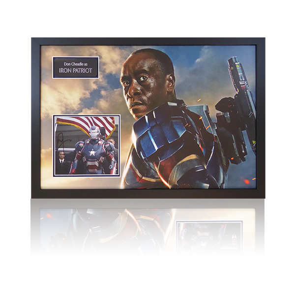 Don Cheadle Signed Iron Patriot Framed Display