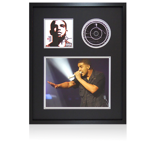 Drake Signed CD Cover Framed Display