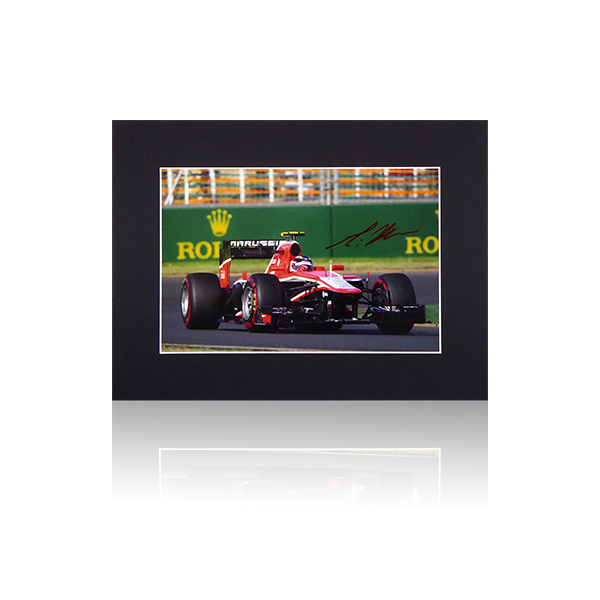 Max Chilton Marussia Signed Mount Display