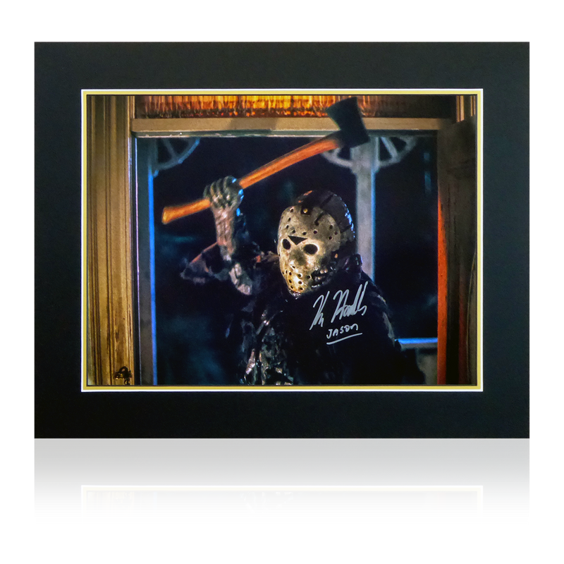 Kane Hodder Signed Jason Display