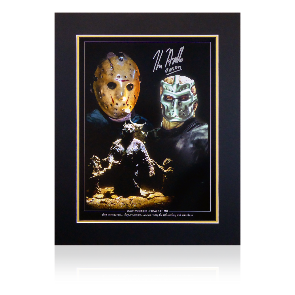 Kane Hodder Signed Jason Montage Display