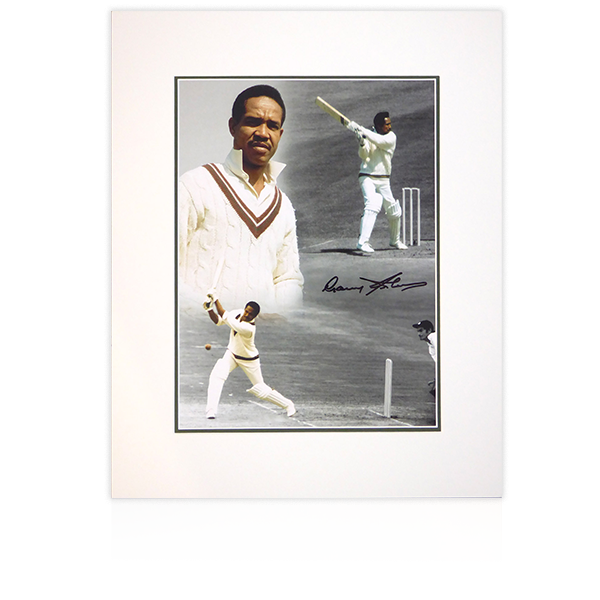 Garfield Sobers Signed Mount Display