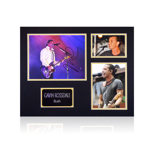 Gavin Rossdale Bush Signed Mount Display