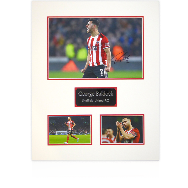 George Baldock (Sheffield United) Signed Mount Display