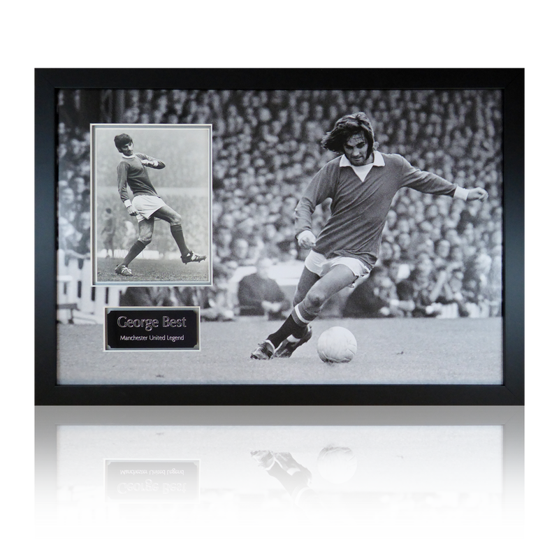 George Best Signed Manchester United Display
