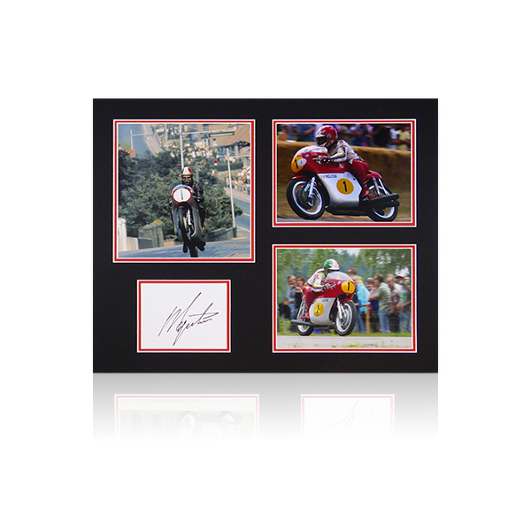 Giacomo Agostini Signed Mount Display