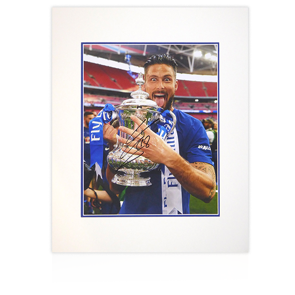 Olivier Giroud (Chelsea) Signed Mount Display