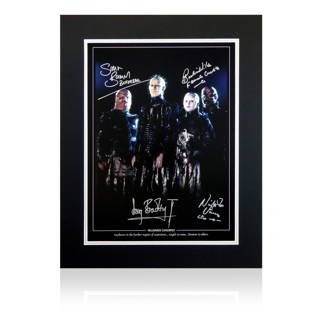 Hellraiser Cenobite x4 Multi Signed Display