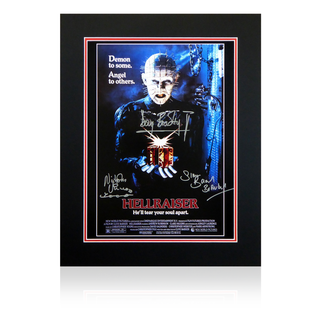 Hellraiser x3 Multi Signed Display