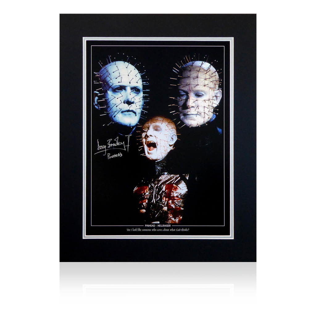 Doug Bradley Signed Pin Head Display