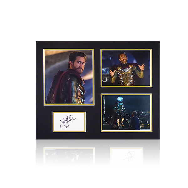 Spiderman Far from home - Jake Gyllenhaal (Mysterio) Signed Mount Display