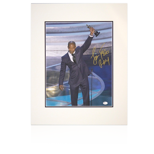 Ray - Jamie Foxx (Ray) Academy Award Acceptance Signed Mount Display
