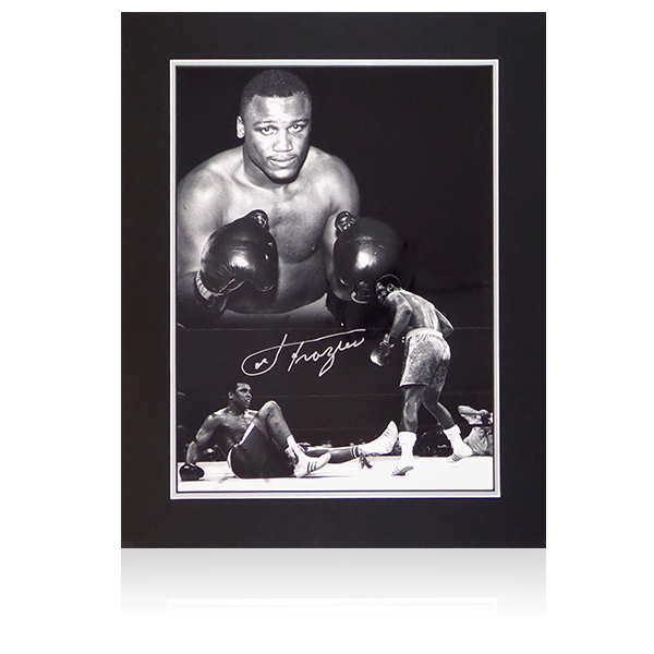 Joe Frazier Signed Mount Display