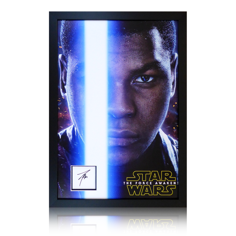 John Boyega Signed Star Wars Display