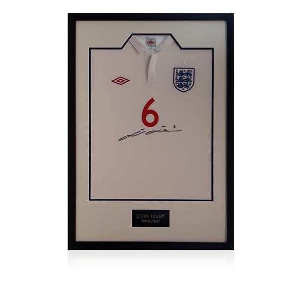 John Terry Signed England Shirt