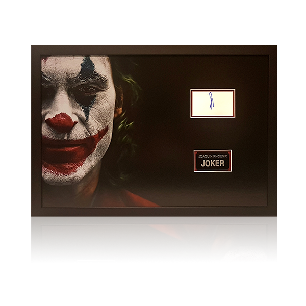 Joaquin Phoenix Signed Joker Display