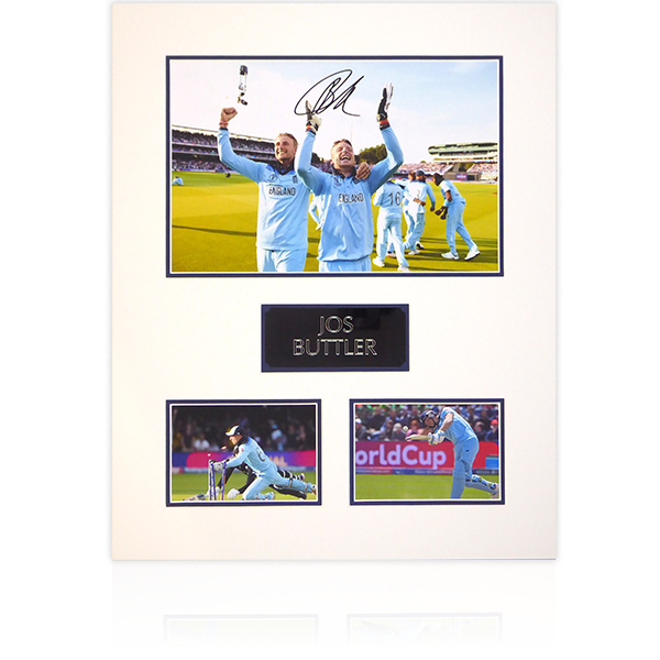 Jos Buttler Signed Mount Display (portrait)