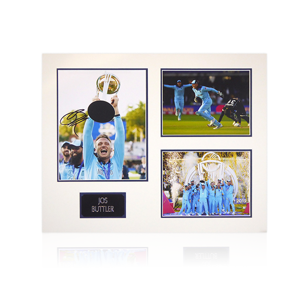 Jos Buttler Signed Mount Display