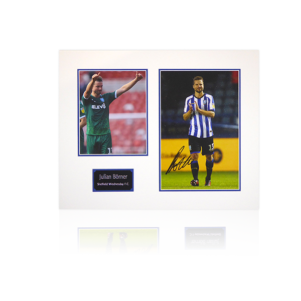 Julian Borner (Sheffield Wednesday) Signed Mount Display Home