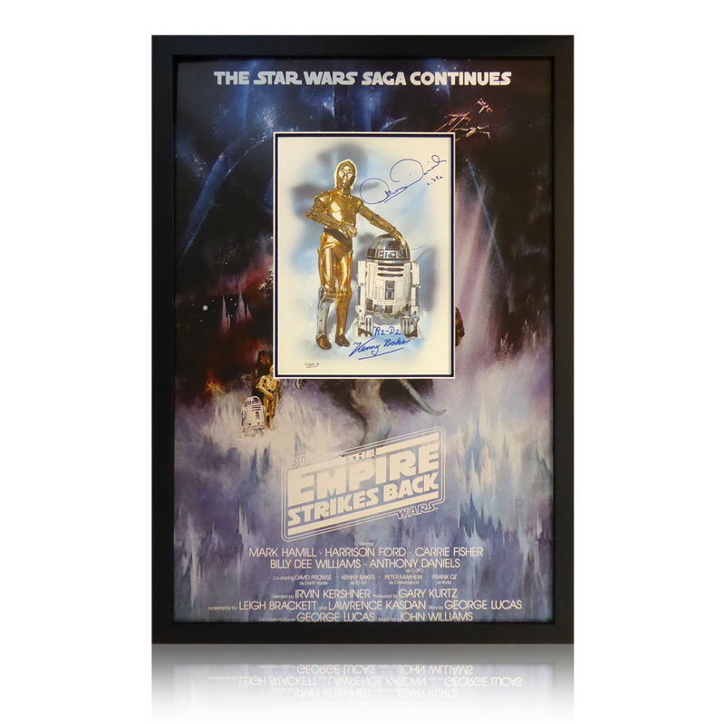 Anthony Daniels & Kenny Baker Signed Star Wars Display