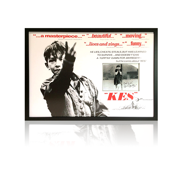 Kes Signed Poster Framed Display (Goal Post)
