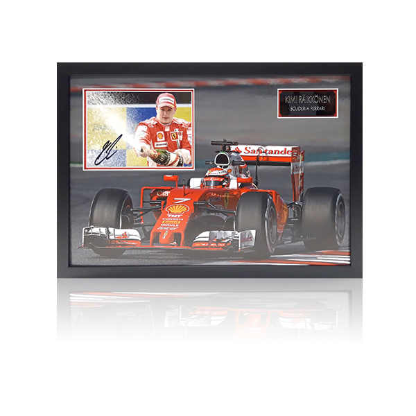 Kimi Raikkonen Signed Framed Display