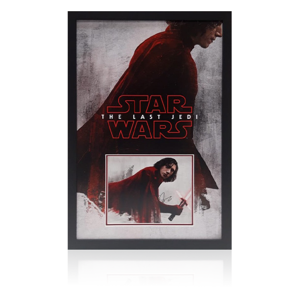 Adam Driver Signed Star Wars Display