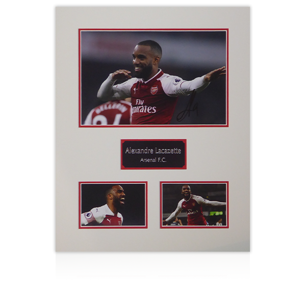 Alexandre Lacazette Signed Mount