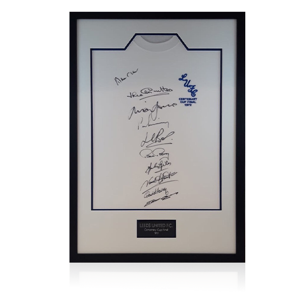 Leeds Squad Signed 1972 Shirt Display