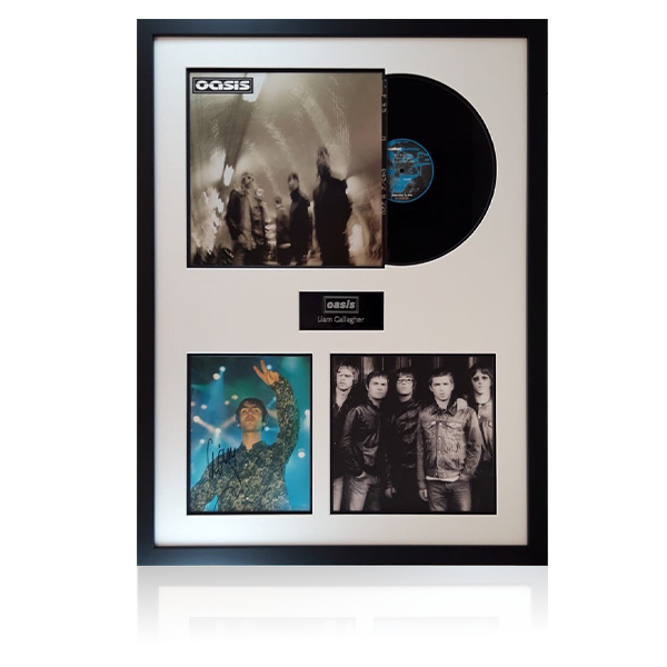 Liam Gallagher Signed Oasis LP Display