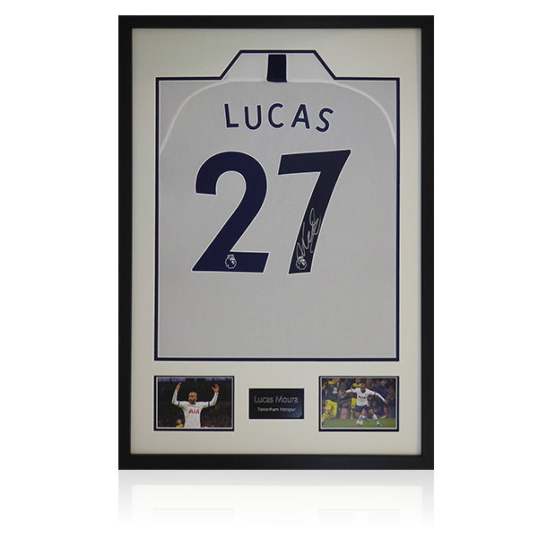 Lucas Signed Tottenham Framed Shirt Display