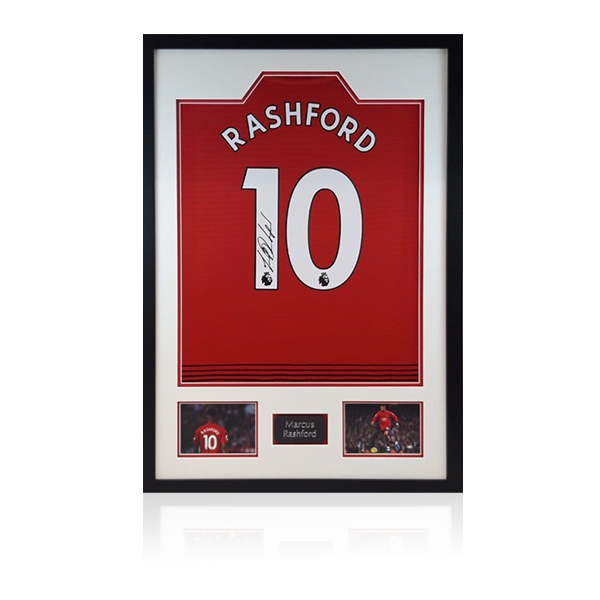 Marcus Rashford Signed Shirt Display