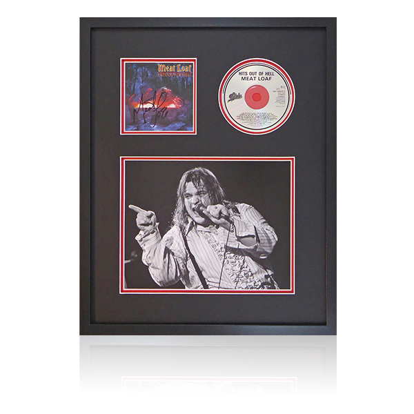Meatloaf Signed Hits Out Of Hell Framed Display
